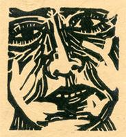 Portrait, block print